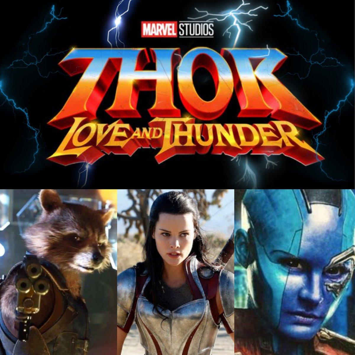 """Se confirma que finalmente Rocket Racoon, Lady Sif y Nebula se suman al reparto final de """"Thor Love and Thunder"""""""". ¿Será tan grande como una de Avengers? ¿Hype? #rocketraccoon #LadySif #Nebula #ThorLoveAndThunder #marvel #MarvelStudios #MarvelComics #GuardiansOfTheGalaxy"""