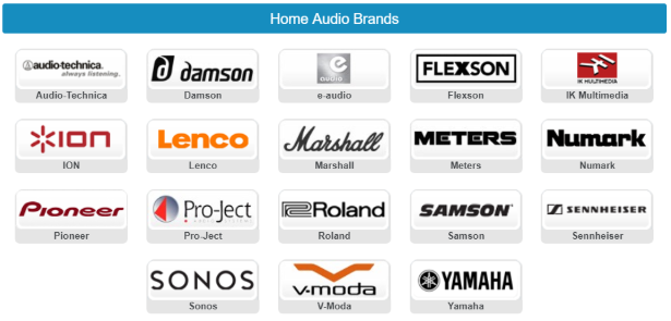 -- Home Audio Brands at Gear4music including #Headphones Portable #Audio #HiFi Systems and #HomeCinema equipment. Popular brands such as #Yamaha #Pioneer and #Sonos