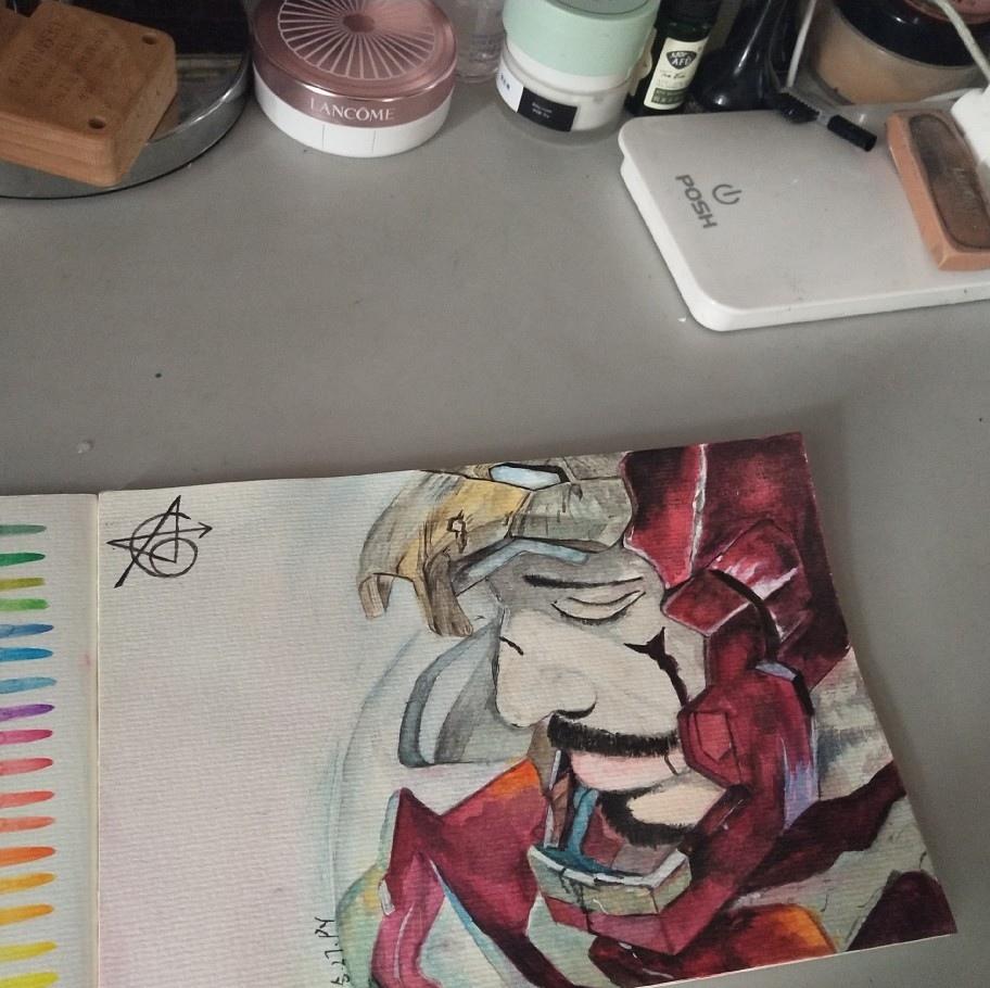 18年的画 #watercolor  #drawing #painting #watercolorpainting #landscapeart #수채화 #aKBapenb  #水彩画 #手绘 #Bapenb #illustrator #ironman  #avengers #marvel