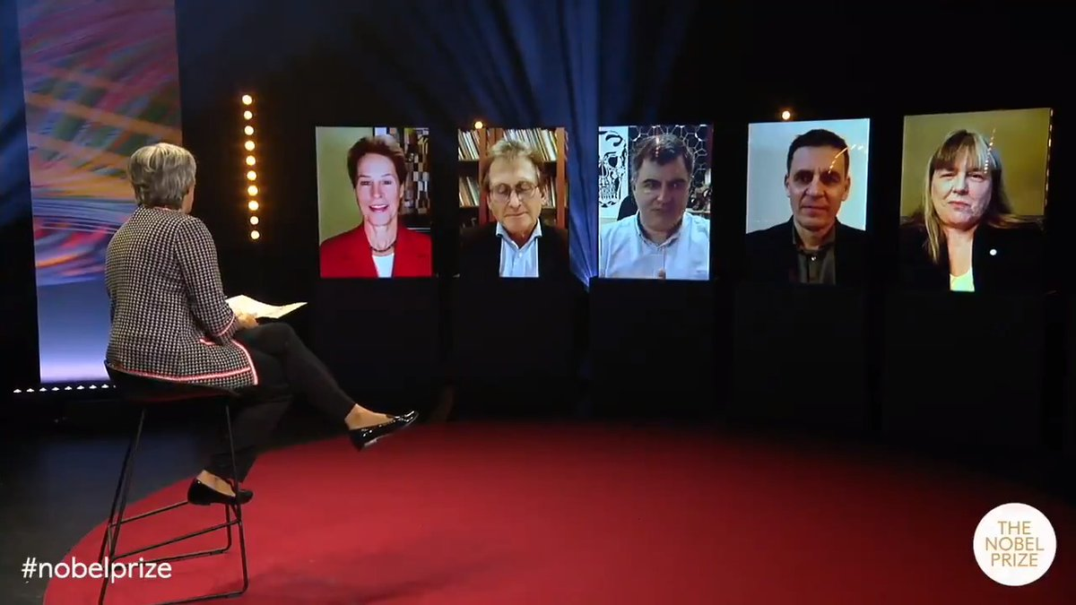 """""""My best teacher is not a person.""""   Who has been your best teacher? Discover what our Nobel Laureates - Frances Arnold, Ben Feringa, Konstantin Novoselov, Didier Queloz and Donna Strickland - had to say.  Watch the full session here:   #EducationDay"""