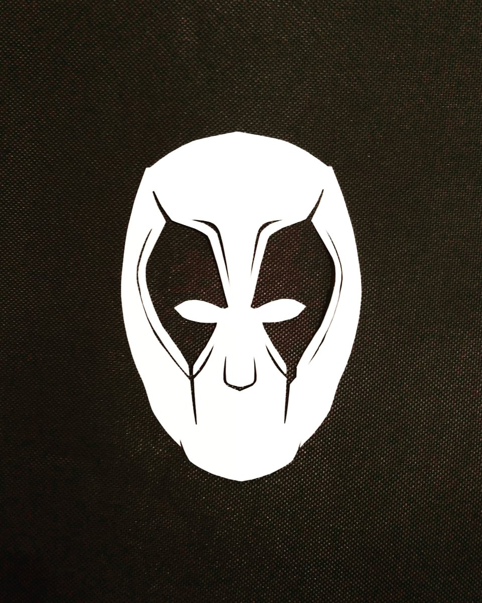 #デッドプール の #紙きり です。#俺ちゃん の映画、結局ブラックで好きです♥️ #マーベル #marvel #切り絵 #紙切り #アート #デザイン #白黒 #モノクロ #はさみ家紙太郎