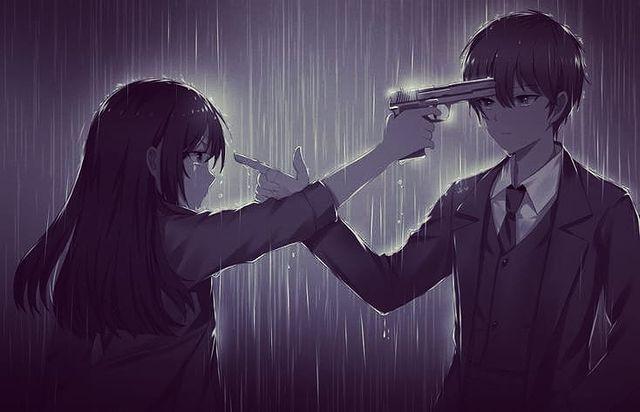 #anime #wallpaper #gun #girl #manga #boy #rain