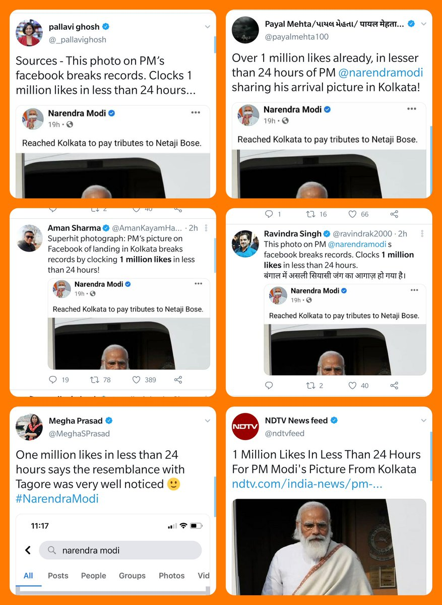 Replying to @zoo_bear: 1 million likes in less than 24 hours. : WhatsApp Sources from PMO office