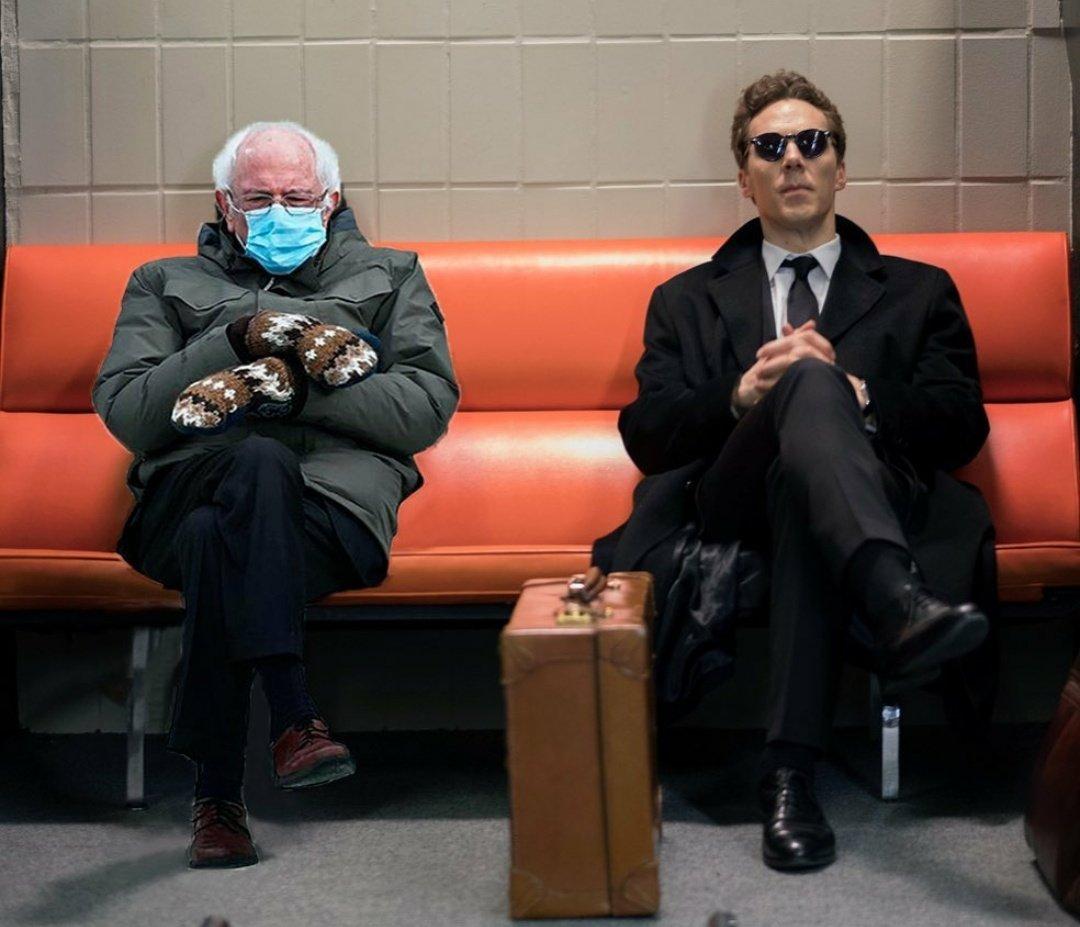 #BernieSanders with my favourite actor #BenedictCumberbatch  🤣🤣🤣 #BernieMeme #DoctorStrange #Benedict #Marvel #Sherlock