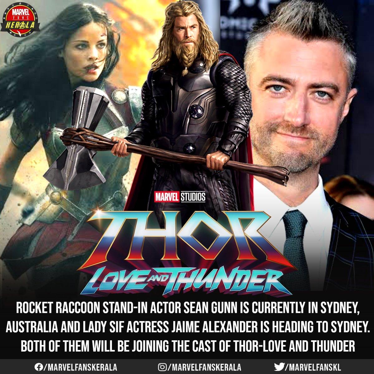 @seangunn and #JaimeAlexander joins Thor-Love and thunder cast.. No news on @zoesaldana's Gamora yet..  #MarvelFansKerala #ThorLoveAndThunder #marvel #chrishemsworth