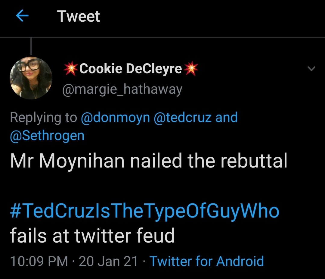 @Sethrogen Popping by to toot my own horn because 👇👇 I've never been more right 😂😂😭😭 #SethRogen #TedCruzIsTheTypeOfGuyWho #TedCruzIsATraitor #COVID19 #GOPSeditiousTraitors