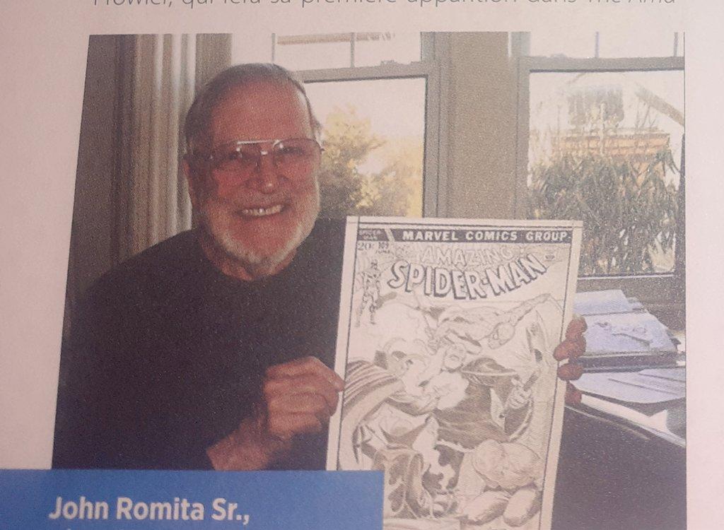 🎂🎁🎆🍾🥂 Un très bon anniversaire à une des légendes vivantes du monde des comics, John Romita, Sr. Il fête aujourd'hui ses 91 ans. #JohnRomitaSr #Comics #Marvel #DCComics @Marvel #johnRomita