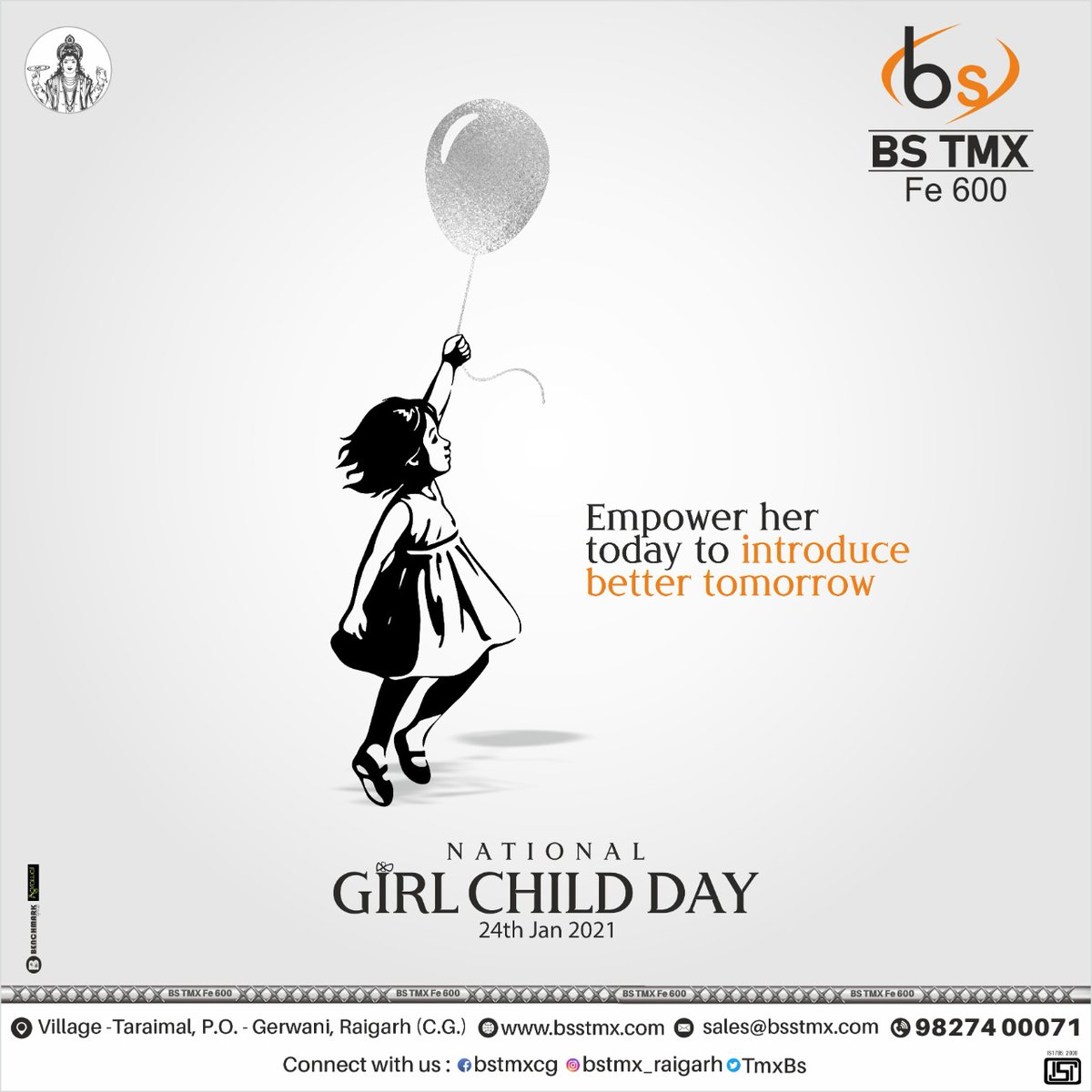 Don't think they are inferior because, in reality, they are superior.  National Girl Child Day!! . #bstmx #nationalgirlchildday #girlchildday #girlchild #girl #empowergirl #educategirl #babygirl #24jan2021 #24january
