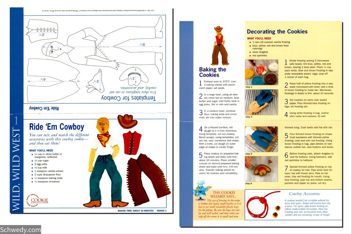 Replying to @MrSchwedy: Ride 'Em Cowboy #cookies #recipecard #foodstagram #foodblogger #foodpics #foodie #cooking #foods #foodblog #retro #recipes #recipe #food #eat #eating #foodies #hungry #foodlovers #baking 🌮 Follow for more recipes!