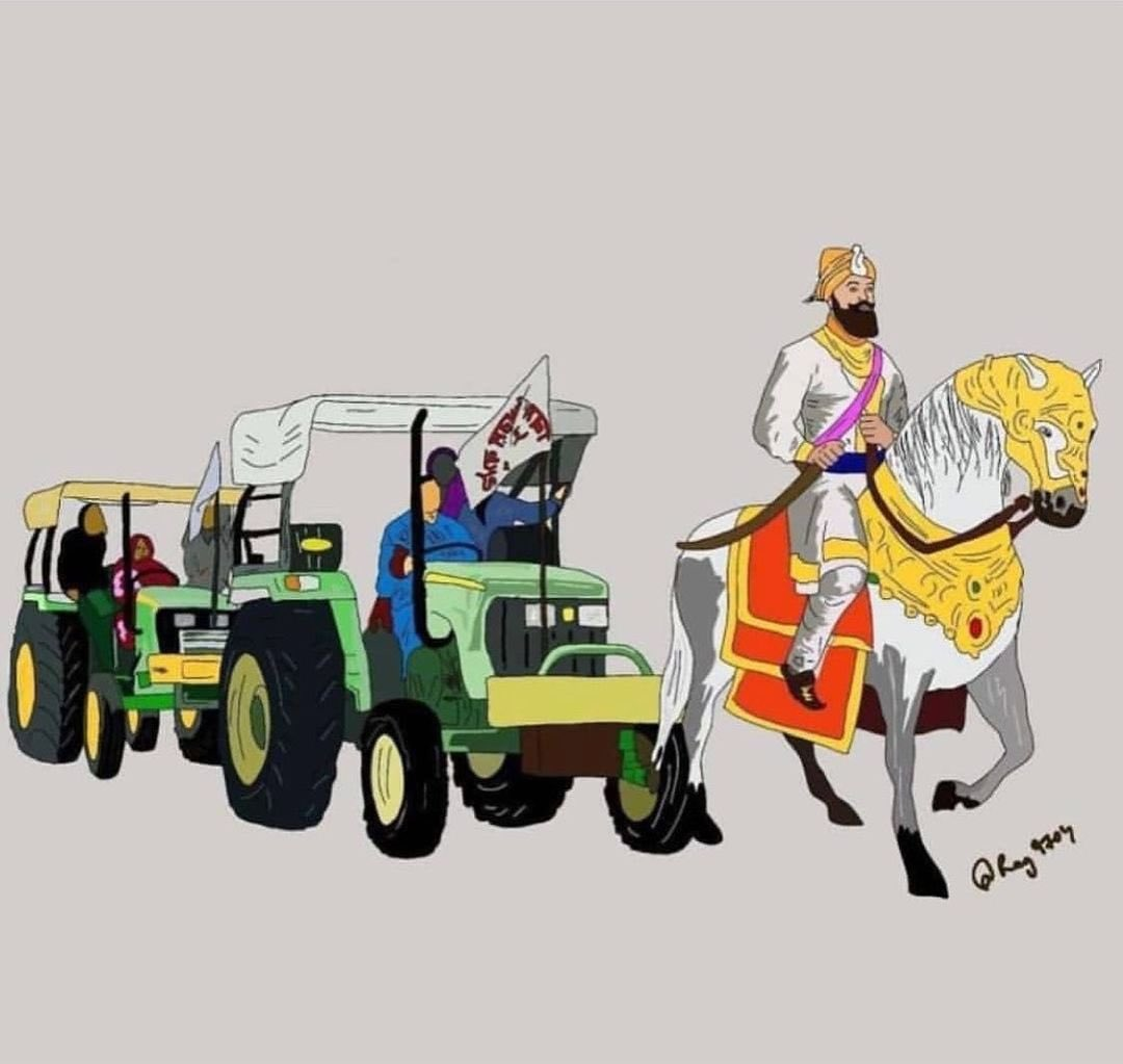 I don't know the artist but it's very symbolic indeed !   #FarmersProtest #Tractor2Twitter