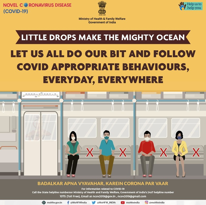 #JanAndolan  Wear your face-cover/mask, wash your hands frequently and thoroughly with soap and water and maintain distance of 6 feet from others.  #Unite2FightCorona  @SpokespersonMoD @PIBAhmedabad @InfoGujarat