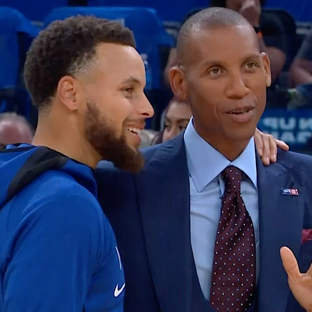 Game recognize game.  @ReggieMillerTNT with a message for @StephenCurry30 👏
