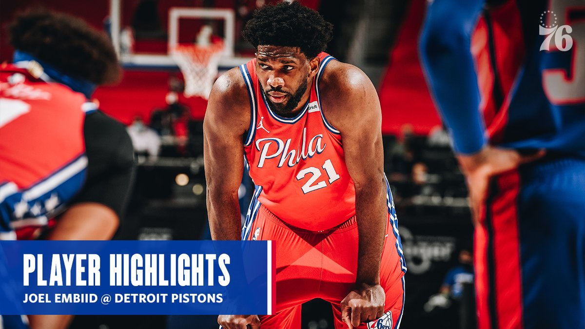 The campaign for @JoelEmbiid continues.  33 PTS / 14 REB / 2 BLK  📹 presented by @IBX