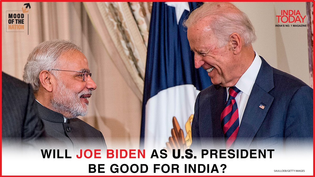 Will Joe Biden as US president be good for India?  To find out, clickto download the Mood Of The Nation special issue of the India Today magazine #Magazinepromo