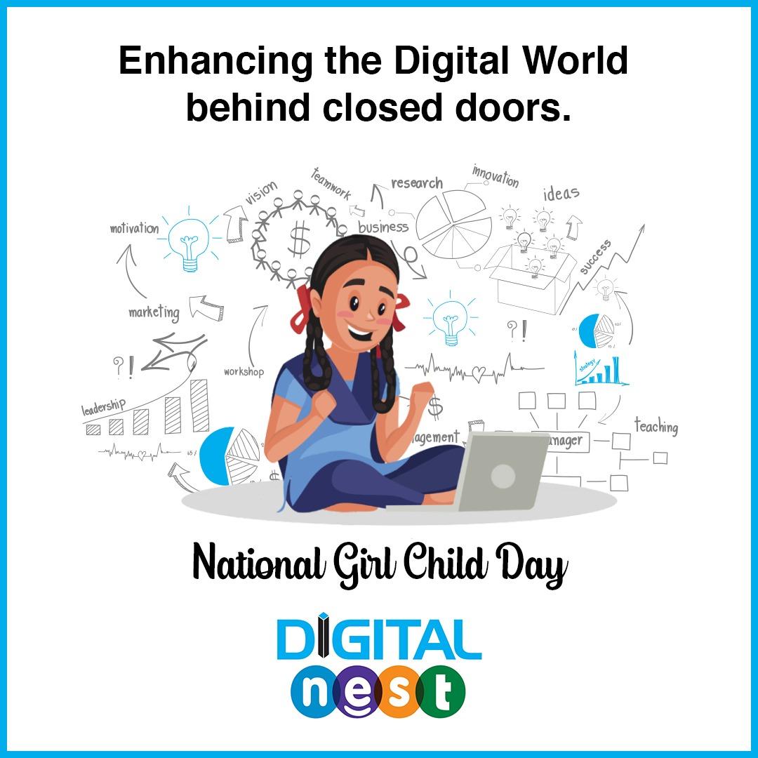 This #NationalGirlChidDay, our dream is to aspire every girl to achieve their dreams through the freedom & power internet has.  #DigitalMarketing #DigitalNest #DigitalNestHyd #Smm #Sem #Adwords #Seo #SocialMedia #DigitalMedia