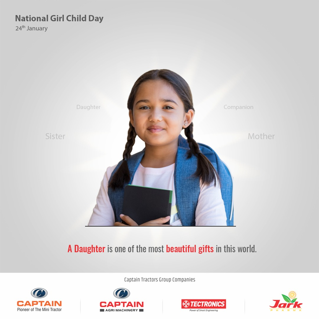 A daughter is one of the most beautiful gifts in this world.  #NationalGirlChildDay #girlpower #womenempowerment #medicine #ayurveda #jarkpharma #india