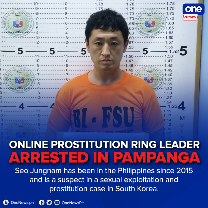 The suspect and his accomplices reportedly earned P1.3 million by operating the online prostitution site under the name Playboy.