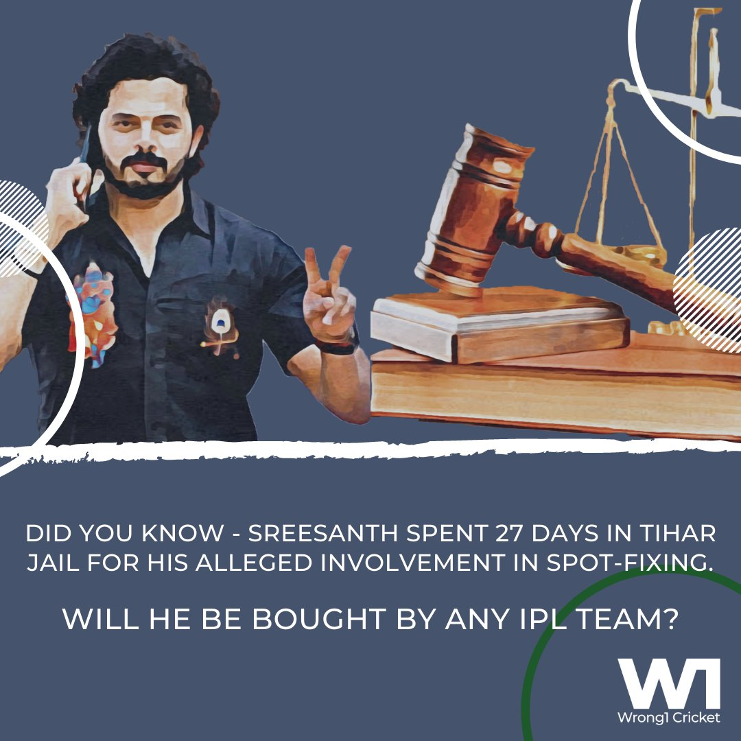 Will the franchisee show interest in Sreesanth? What you guys feel.   Meanwhile, you can check hi story here -   #Wrong1 #Sreesanth #SyedMushtaqAliTrophy #IPLAuctions #IPLTransfers