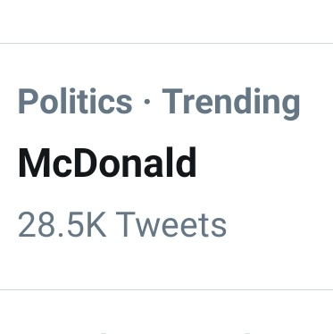 What should I mean? 🤔 Politics #McDonald Or 🍟🍔 #McDonalds ?