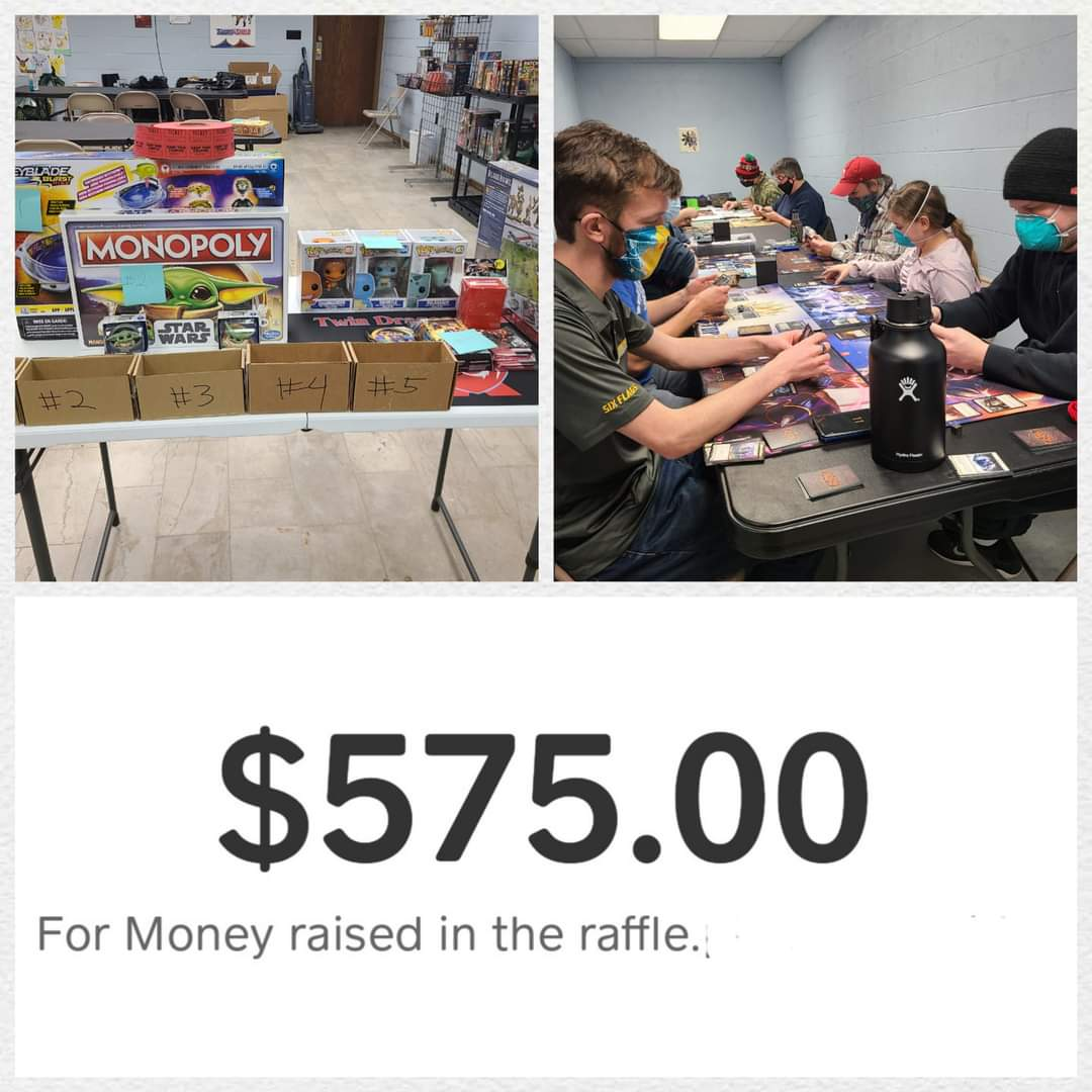 We raised $575 dollars for our local restaurants in Racine part of the #VemmoChallenge!  Thank you to those who participated in the raffle and our small tournaments!  #smallbusiness #racineandme #localgamestore #downtownracine  #fleshandblood