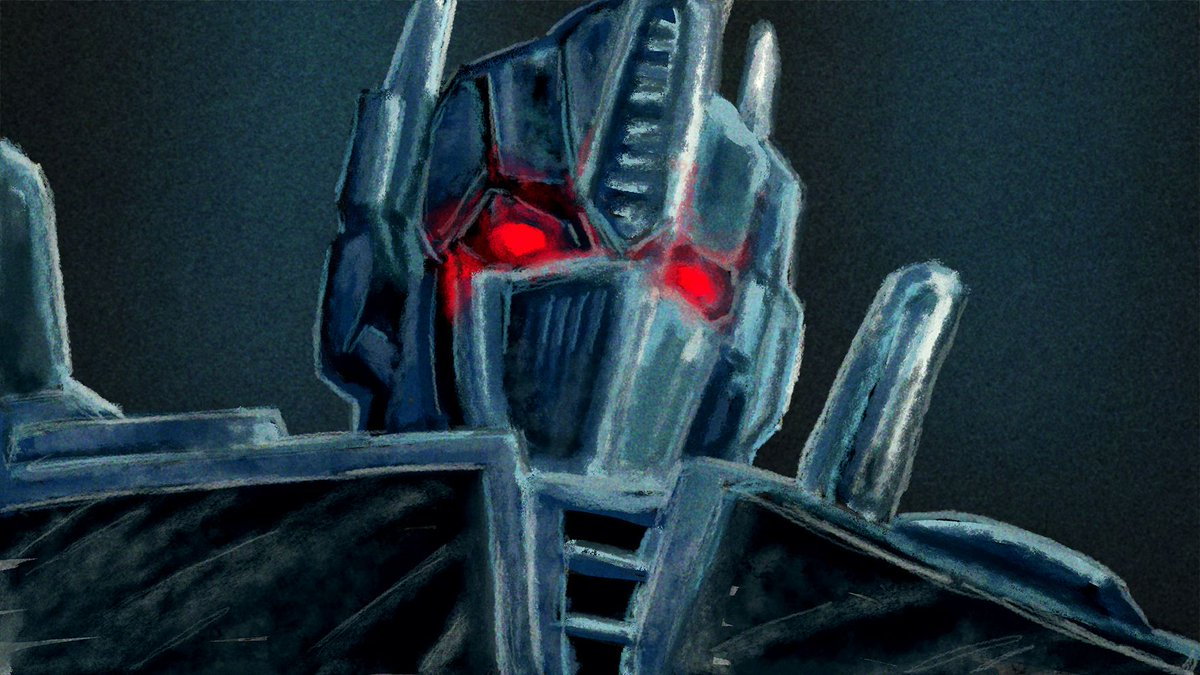 """""""Try and stop me"""". Nemesis Prime painting. I tried to use blue and red only. Made with Adobe Fresco  #coderart #transformers #optimusprime #nemesisprime #adobe #fresco"""