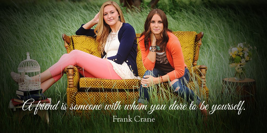 A friend is someone with whom you dare to be yourself. - Frank Crane #quote #ThankfulThursday