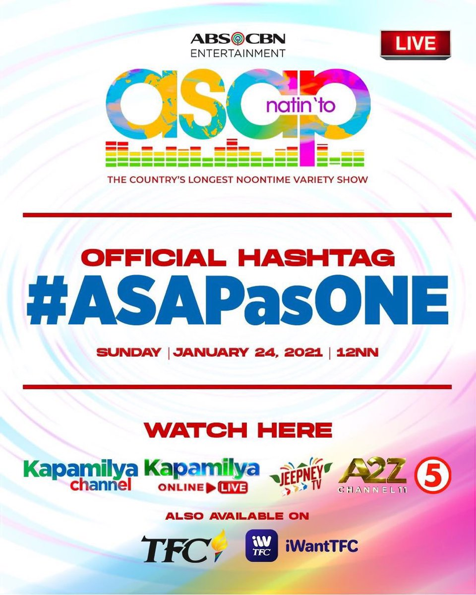 Replying to @annecurtissmith: See you guys on ASAP!!!!!! Yahooo!!! @ASAPOFFICIAL #ASAPasONE
