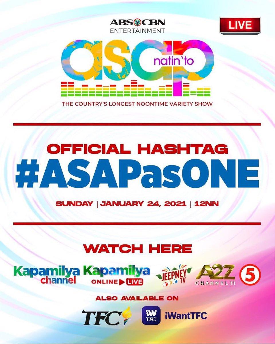 See you guys on ASAP!!!!!! Yahooo!!! @ASAPOFFICIAL #ASAPasONE