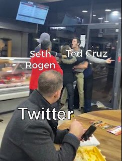 Watching the battle between Seth Rogen and Ted Cruz