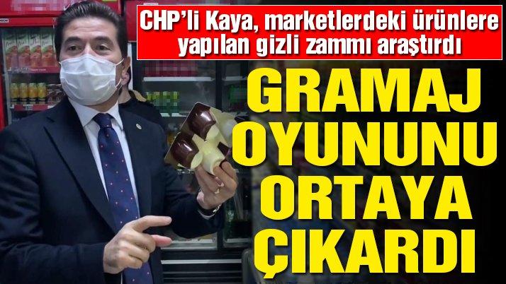CHP Trabzon Milletvekili Ahmet Kaya gramaj oyununu ortaya çıkardı