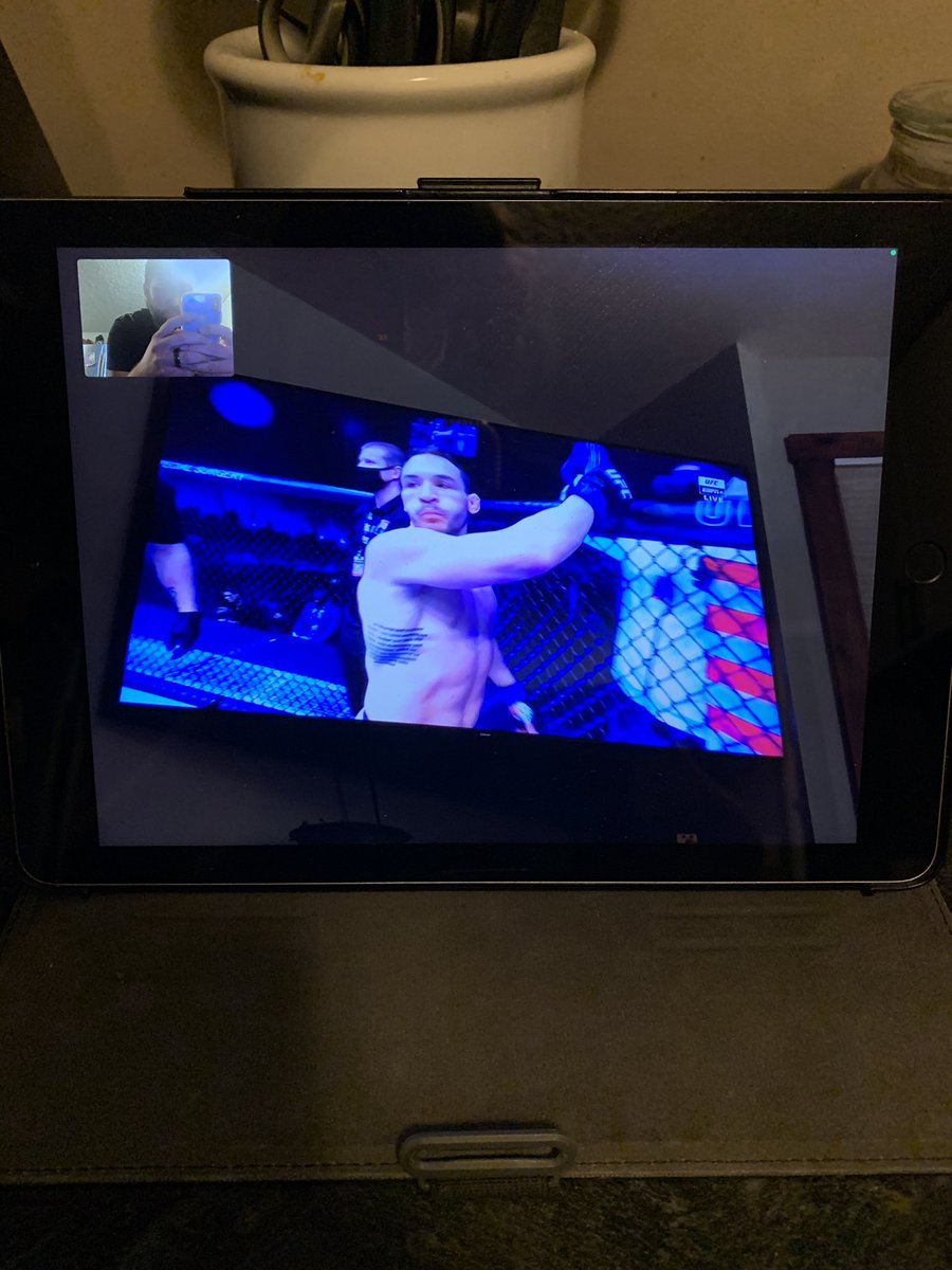 How Im forced to watch #UFC257 #facetime #ESPN #sucksass