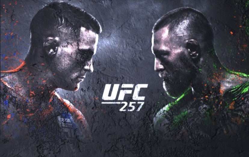 "The moment we have all been waiting for!  Dustin ""The Diamond"" Poirier vs ""The Notorious"" Conor McGregor 2  #UFC257 #UFCFightIsland"