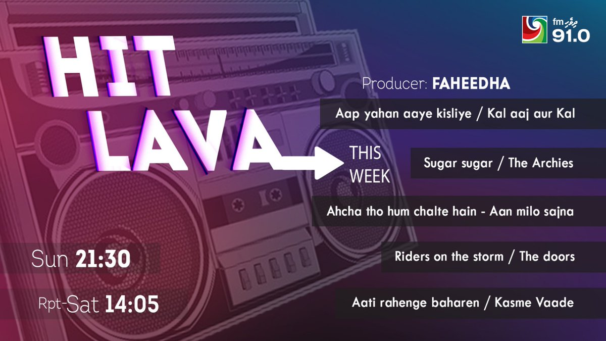 New week, new list. Tune in to check out more about these awesome songs w/ RJ Fahy 🧝 #HitLava 🎶🎵 https://t.co/FzNYGg3Ujb