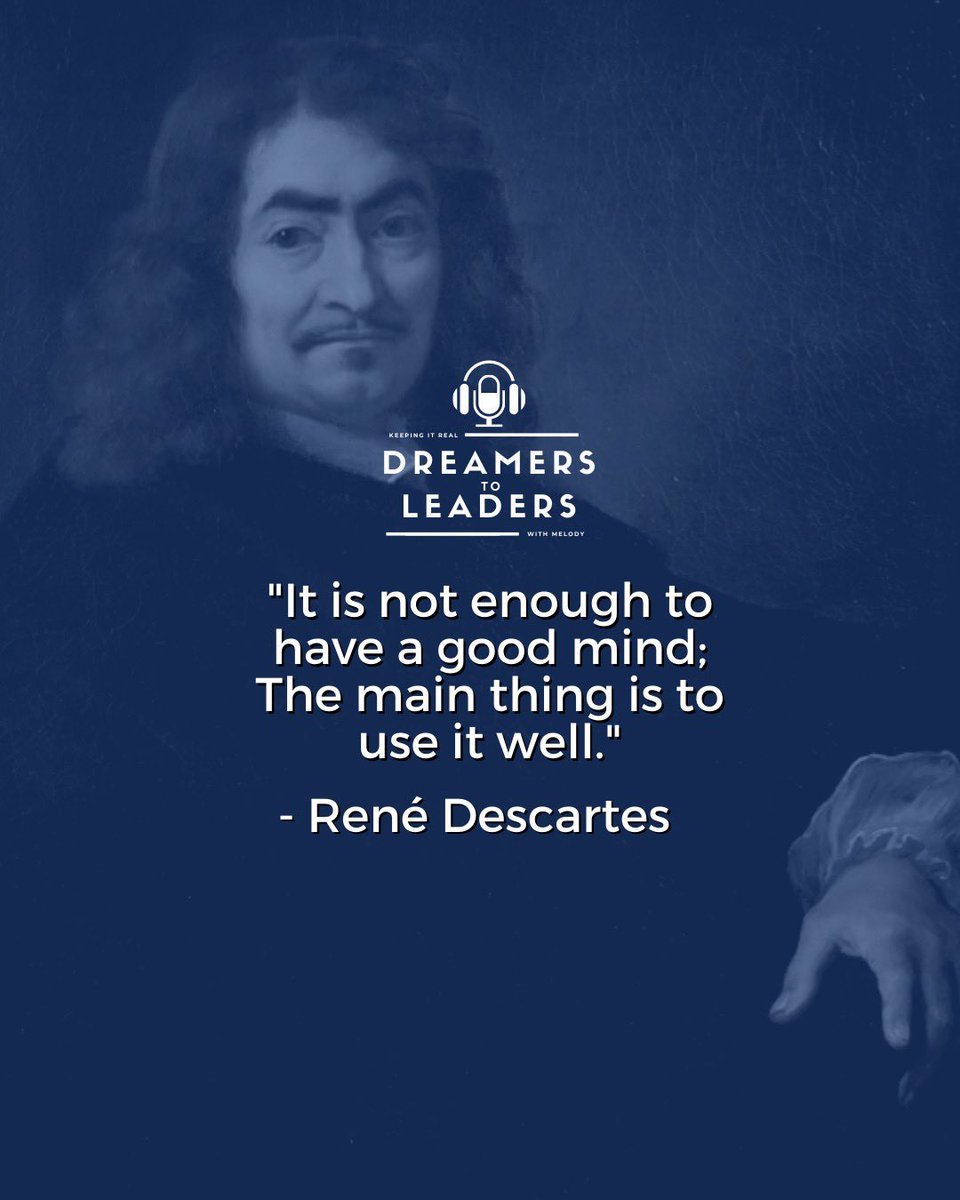 You are worth your best effort. That said, always give your best effort because you deserve it.🏆 Share and comment one technique you use to always stay on your best!🙌 #renedescartes #podcast #leadership #success #financialfreedom #motivation #goals