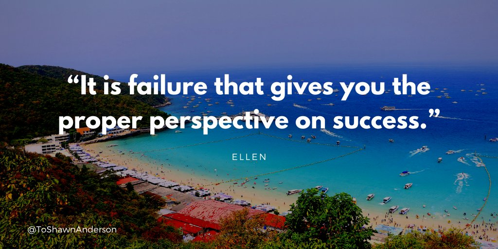 """""""It is failure that gives you the proper perspective on success."""" @TheEllenShow  #quotesoftheday #quotes #quotestoliveby #defstar5  #dailymotivation #quote #motivational #success  #JoyTrain #SuccessTRAIN #makeyourownlane #ThinkBIGSundayWithMarsha"""