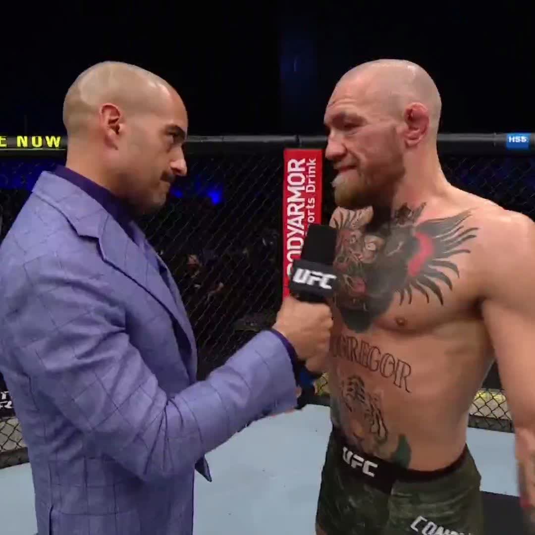"""""""I'm gutted."""" Conor McGregor reacts after his #UFC257 loss. https://t.co/CJN7a2FuZg"""