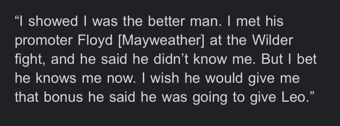 New WBO super bantamweight champion Stephen Fulton Jr. had this to say about Floyd Mayweather Jr. after his tremendous victory over Angelo Leo. #LeoFulton