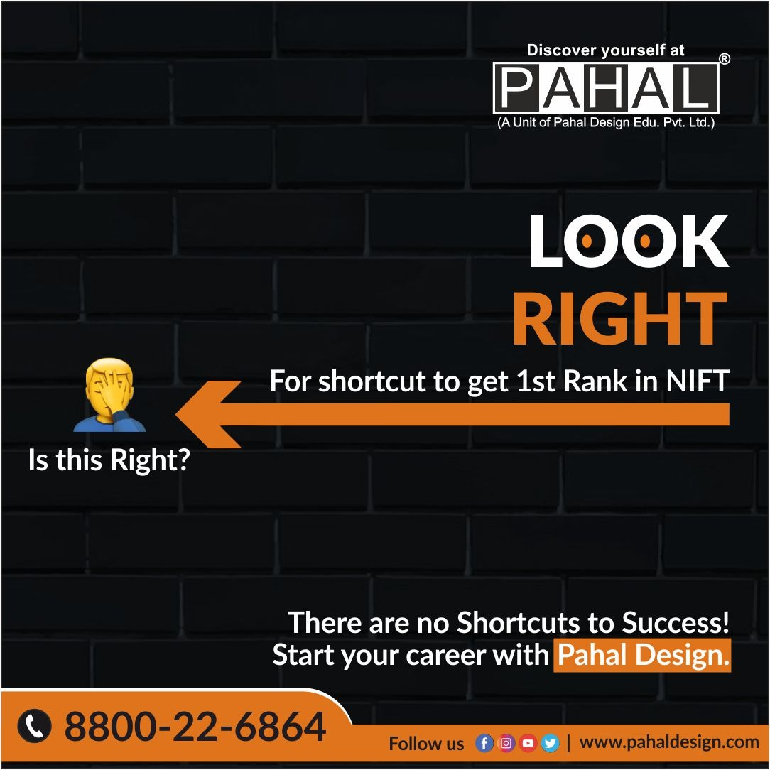 There are no shortcuts to Success!!  Try and discover yourself at pahaldesign.  #pahaldesign #nift #nid #nata #exam #discoveryourself #2021goals #fashiondesign #success