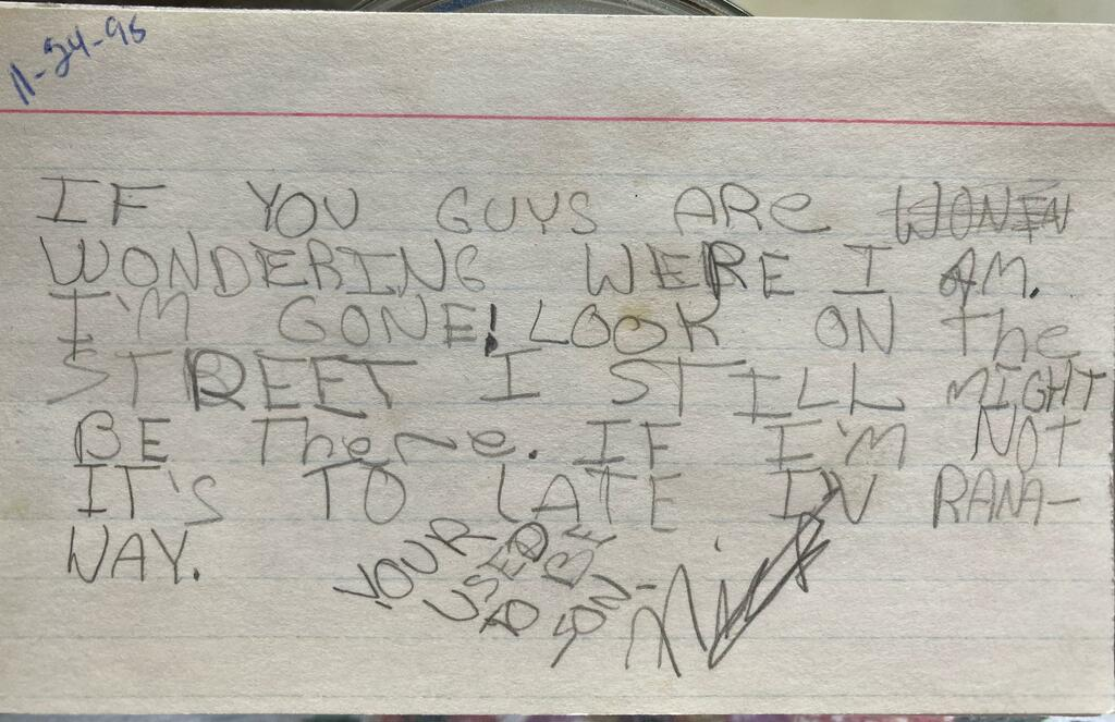 This note from my brother to my parents in 1995 via /r/funny  #funny #lol #haha #humor #lmao #lmfao #hilarious #laugh #laughing #fun #wacky #crazy #silly #witty #joke #jokes #joking #epic #funnypictures