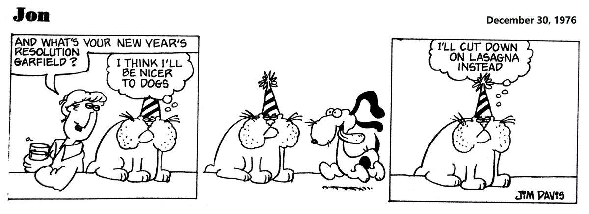 50. December 30, 1976. Thats why I simply decided to surrender and make no resolutions  #Jon #JonArbuckle #garfield #JimDavis #Pendleton #Indiana #comic #comicoftheday #comics #comicstrips
