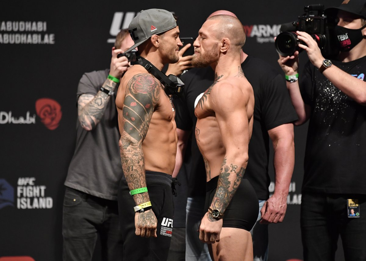 Dustin Poirier KOs Conor McGregor in the second round of UFC 257, avenging his 2014 loss against The Notorious. (via ESPN)