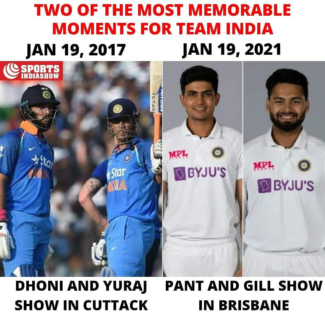 4️⃣ years apart, two memorable days in the history of Indian Cricket ❤ 🇮🇳 .  .  #Cricket #India #MSDhoni #YuvrajSingh #ShubmanGill #ausvsind