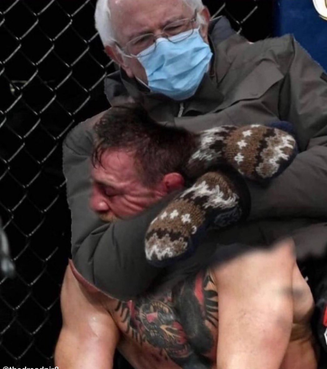 #UFC257 even #BernieSanders can with against  #ConorMcGregor