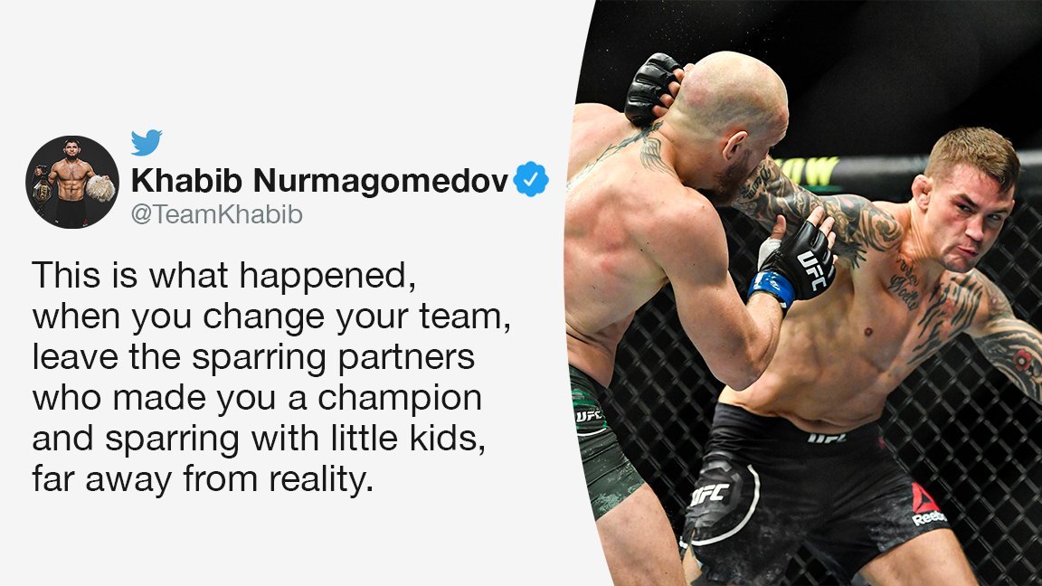 Replying to @espnmma: Khabib weighed in on the result of the #UFC257 main event 🦅  (via @TeamKhabib)