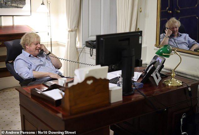 Sit up straight, man. You're talking to a superior.... No, not like that...  #BorisJohnson #JoeBiden