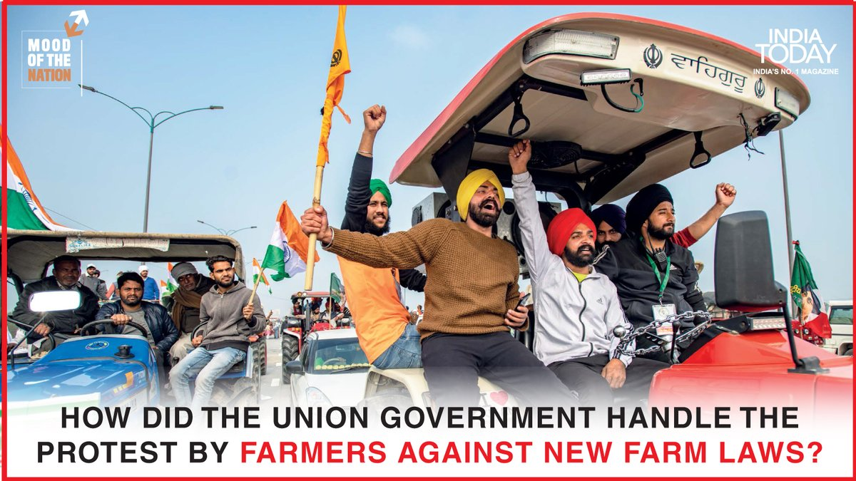 How did the government handle the protest by farmers against the new farm laws?  To find out, clickto download the Mood Of The Nation special issue of the India Today magazine #Magazinepromo