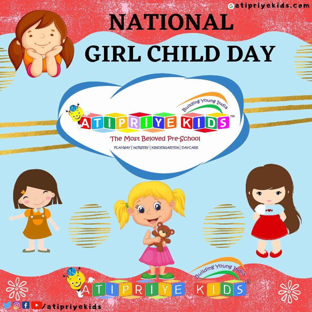 National Girl Child Day! #atipriyekids #school #fun #memories #kids #toddlers #nationalgirlchildday #girl #girlpower #strong #positive #girlchild #savegirls #humanity #proud #family