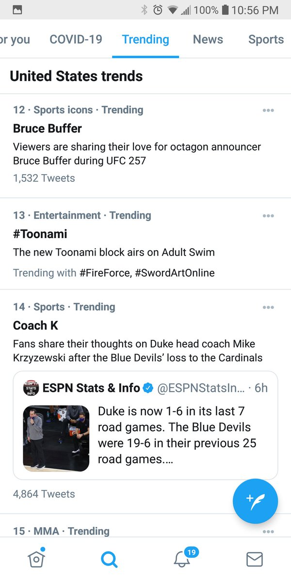 Trending News: #Toonami continues to trend in the US. #SwordArtOnline and #FireForce are related trends.