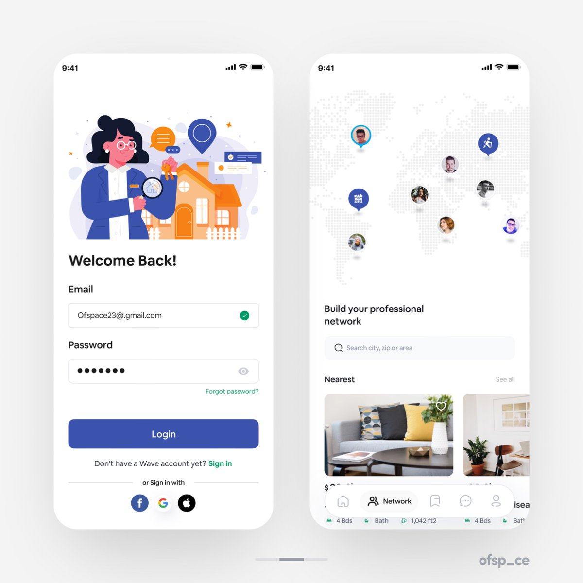 Real Estate App! Project Enquires: hello@ofspace.co  #webdesigner #uidesigner #interface #graphicdesign #webdesignservices #webdesignagency #branding #uxdesign #house #houses #investmentproperty #realestateagent #realtorlife #realestateagents #management #consulting #expediting