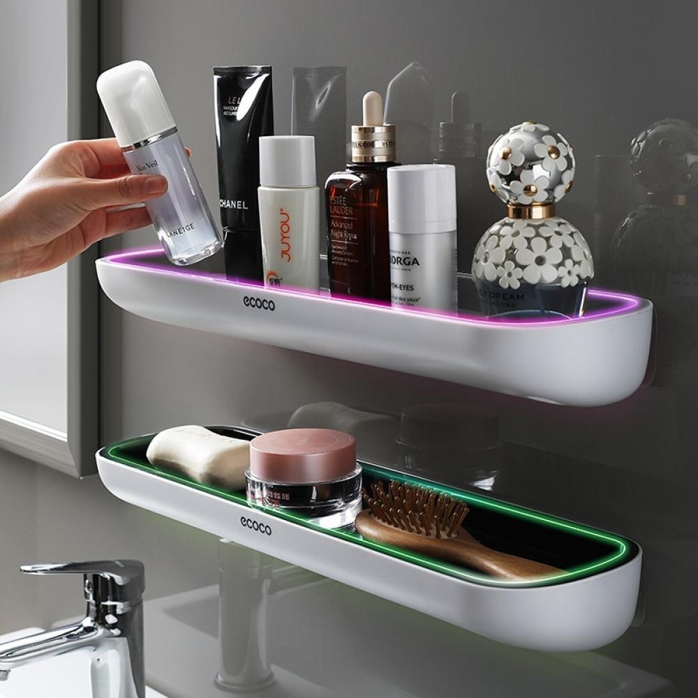 Oval Adhesive Bathroom Shelf  $ 31.98  #home #garden #home